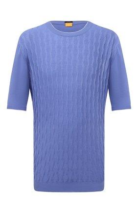 Мужской хлопковый джемпер SVEVO голубого цвета, арт. 82165SE21L/MP0002 | Фото 1