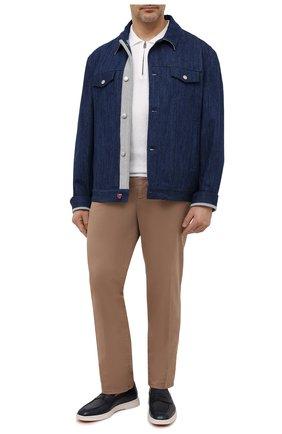 Мужская джинсовая куртка KITON синего цвета, арт. UW0948MV07T92/60-68 | Фото 2