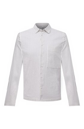 Мужская рубашка из хлопка и шелка TRANSIT черно-белого цвета, арт. CFUTRNJ195 | Фото 1