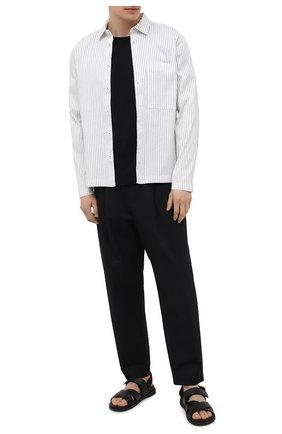Мужская рубашка из хлопка и шелка TRANSIT черно-белого цвета, арт. CFUTRNJ195 | Фото 2