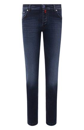 Мужские джинсы KITON темно-синего цвета, арт. UPNJS/J07T22 | Фото 1