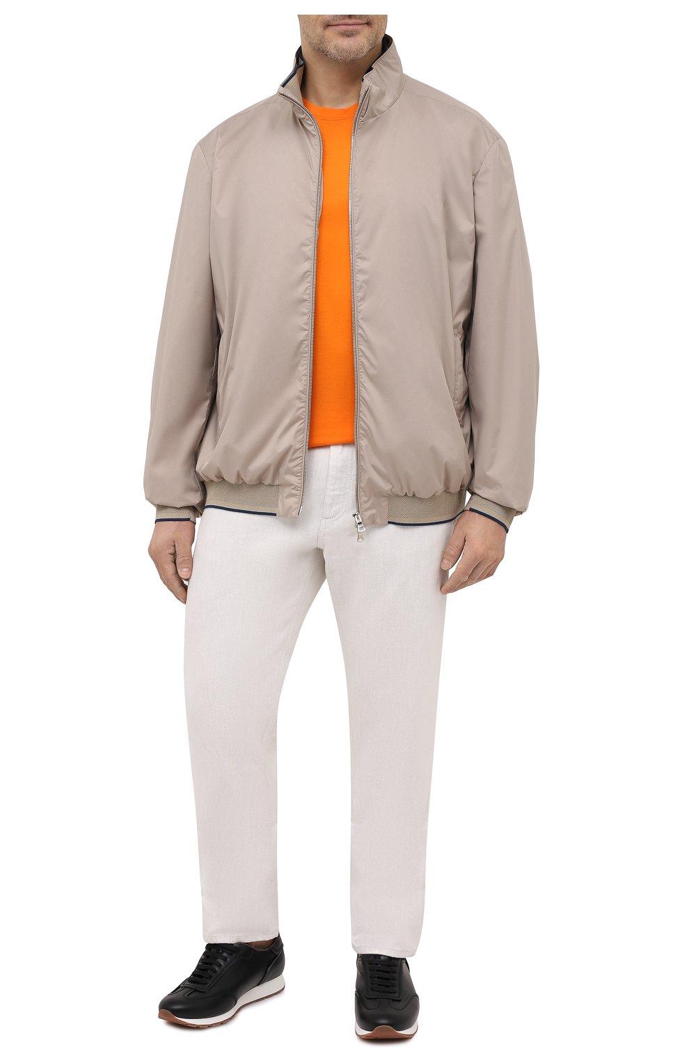 Мужская хлопковая футболка KITON оранжевого цвета, арт. UK1274L | Фото 2