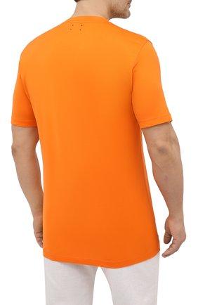 Мужская хлопковая футболка KITON оранжевого цвета, арт. UK1274L | Фото 4