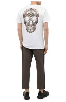 Мужская хлопковая футболка RELIGION белого цвета, арт. 11BJSN96   Фото 2 (Материал внешний: Хлопок; Рукава: Короткие; Длина (для топов): Стандартные; Принт: С принтом; Стили: Панк)