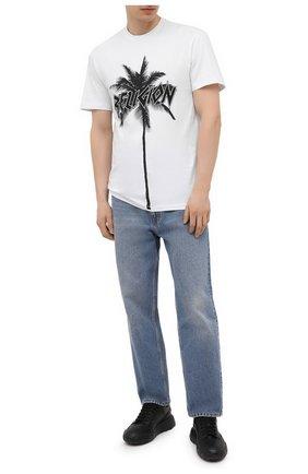 Мужская хлопковая футболка RELIGION черно-белого цвета, арт. 11TPMN96 | Фото 2