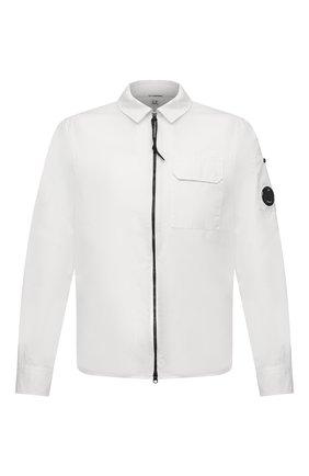 Мужская хлопковая рубашка C.P. COMPANY белого цвета, арт. 10CMSH173A-002824G | Фото 1