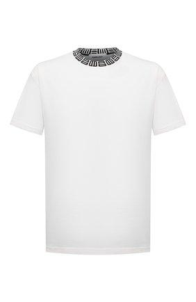 Мужская хлопковая футболка AMBUSH белого цвета, арт. BMAA012S21JER001 | Фото 1