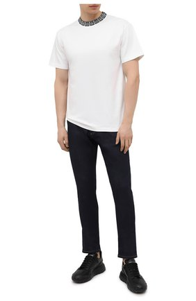 Мужская хлопковая футболка AMBUSH белого цвета, арт. BMAA012S21JER001 | Фото 2