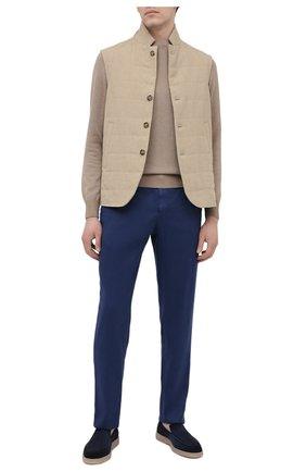 Мужские льняные брюки MARCO PESCAROLO синего цвета, арт. CHIAIA/4306 | Фото 2