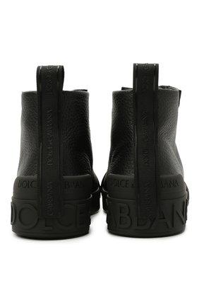 Мужские кожаные кеды portofino light DOLCE & GABBANA черного цвета, арт. CS1866/A0259 | Фото 6