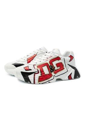 Мужские кожаные кроссовки daymaster DOLCE & GABBANA белого цвета, арт. CS1791/A0233 | Фото 1