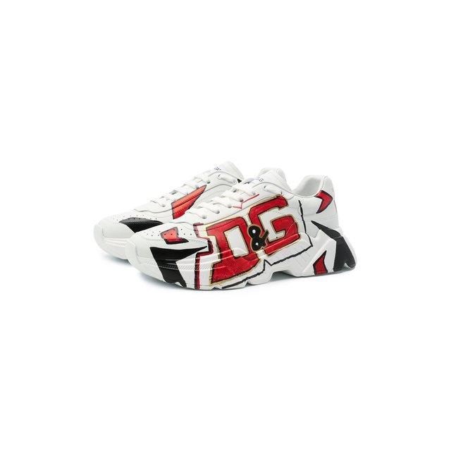 Кожаные кроссовки Daymaster Dolce & Gabbana