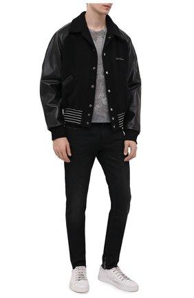 Мужские джинсы SAINT LAURENT черного цвета, арт. 649132/Y08AG | Фото 2