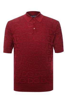 Мужское шелковое поло DOLCE & GABBANA красного цвета, арт. GXD58T/JAS0K | Фото 1