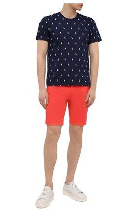 Мужские хлопковые шорты  POLO RALPH LAUREN красного цвета, арт. 710646709 | Фото 2