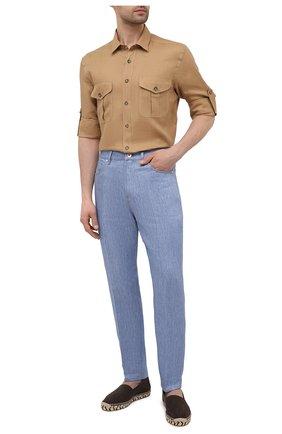 Мужские текстильные эспадрильи RALPH LAUREN коричневого цвета, арт. 815835894 | Фото 2