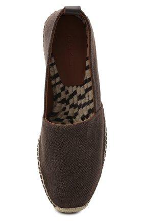 Мужские текстильные эспадрильи RALPH LAUREN коричневого цвета, арт. 815835894 | Фото 5