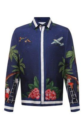 Мужская шелковая рубашка CASABLANCA темно-синего цвета, арт. MS21-SH-001 CASABLANCA SURF CLUB MIDNIGHT | Фото 1