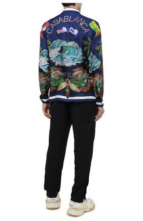 Мужская шелковая рубашка CASABLANCA темно-синего цвета, арт. MS21-SH-001 CASABLANCA SURF CLUB MIDNIGHT | Фото 2