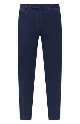 Мужские брюки из хлопка и кашемира CORNELIANI темно-синего цвета, арт. 874B05-1114105/02 | Фото 1 (Длина (брюки, джинсы): Стандартные; Материал внешний: Хлопок; Стили: Кэжуэл; Случай: Повседневный)