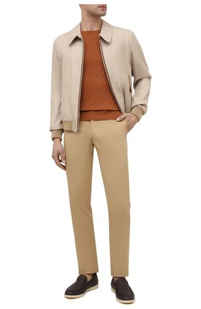 Мужские хлопковые брюки CORNELIANI бежевого цвета, арт. 874L00-1114504/00 | Фото 2