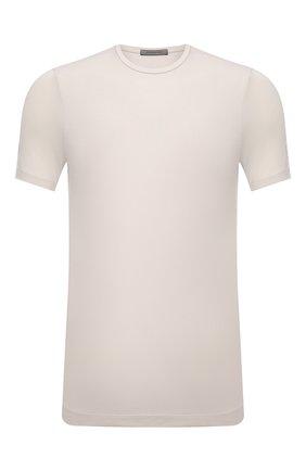 Мужская хлопковая футболка CORNELIANI бежевого цвета, арт. 87G586-1125090/00 | Фото 1