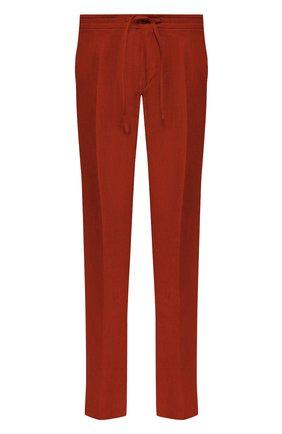 Мужские льняные брюки LORO PIANA красного цвета, арт. FAI6395 | Фото 1