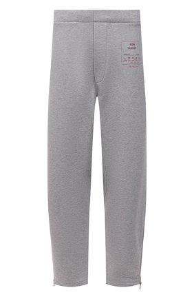 Мужские хлопковые брюки MAISON MARGIELA светло-серого цвета, арт. S50KA0552/S25508 | Фото 1
