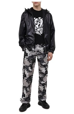 Мужская хлопковая футболка OPENING CEREMONY черно-белого цвета, арт. YMAA001S21JER003 | Фото 2