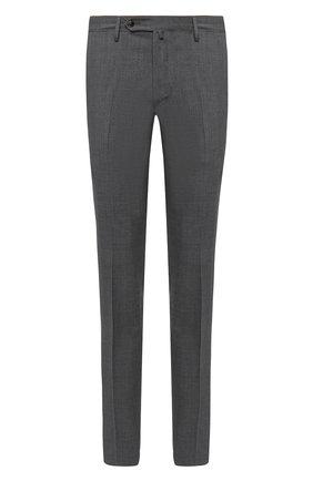Мужские шерстяные брюки LUCIANO BARBERA серого цвета, арт. 104126/45516 | Фото 1