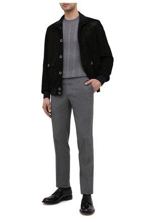 Мужские шерстяные брюки LUCIANO BARBERA серого цвета, арт. 104126/45516 | Фото 2