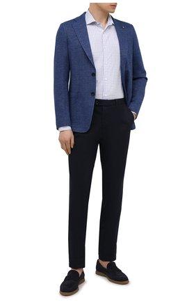 Мужская хлопковая сорочка LUCIANO BARBERA голубого цвета, арт. 105419/72031 | Фото 2