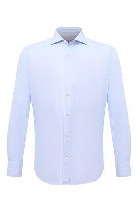 Мужская хлопковая сорочка LUCIANO BARBERA голубого цвета, арт. 105419/72052 | Фото 1