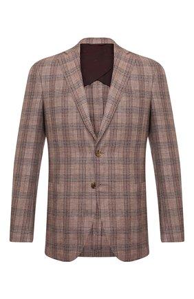 Мужской пиджак LUCIANO BARBERA коричневого цвета, арт. 111T25/16067 | Фото 1