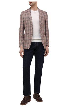 Мужской пиджак LUCIANO BARBERA коричневого цвета, арт. 111T25/16067 | Фото 2