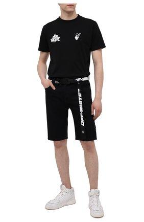 Мужские джинсовые шорты OFF-WHITE черного цвета, арт. 0MYC005S21DEN001 | Фото 2