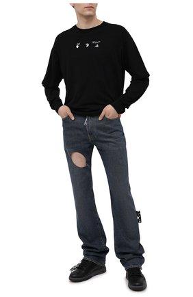 Мужские джинсы OFF-WHITE синего цвета, арт. 0MYA107S21DEN003 | Фото 2
