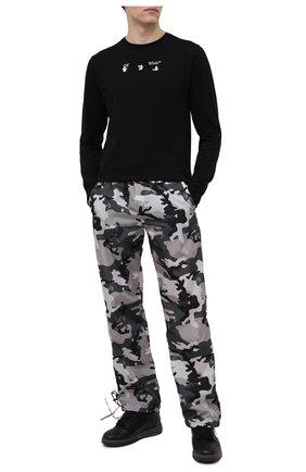 Мужские брюки OFF-WHITE серого цвета, арт. 0MCJ008S21FAB001 | Фото 2