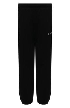 Мужские хлопковые джоггеры OFF-WHITE черного цвета, арт. 0MCH029S21FLE004 | Фото 1