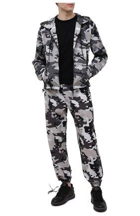 Мужские хлопковые джоггеры OFF-WHITE серого цвета, арт. 0MCA164S21FAB002 | Фото 2