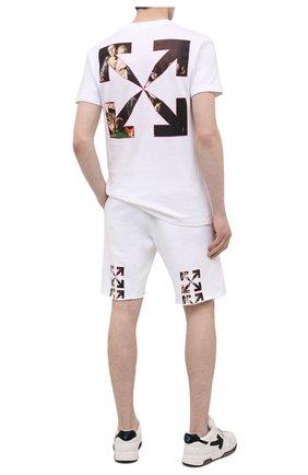 Мужская хлопковая футболка OFF-WHITE белого цвета, арт. 0MAA027S21JER010 | Фото 2 (Материал внешний: Хлопок; Длина (для топов): Стандартные; Рукава: Короткие; Принт: С принтом; Стили: Гранж)