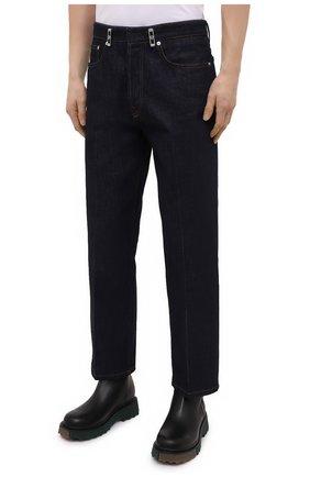Мужские джинсы LANVIN темно-синего цвета, арт. RM-TR0007-D003-E21   Фото 3 (Силуэт М (брюки): Широкие; Кросс-КТ: Деним; Длина (брюки, джинсы): Стандартные; Материал внешний: Хлопок; Стили: Минимализм)