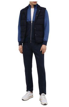 Мужской хлопковая толстовка CAPOBIANCO синего цвета, арт. 10M452.JA00. | Фото 2