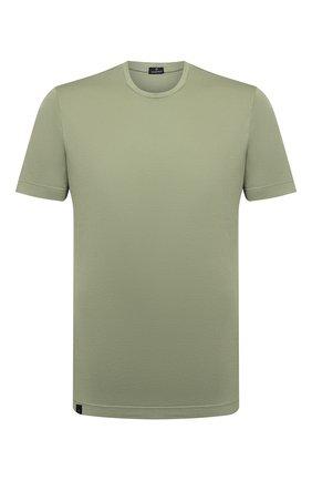 Мужская хлопковая футболка CAPOBIANCO зеленого цвета, арт. 10M660.PA01. | Фото 1