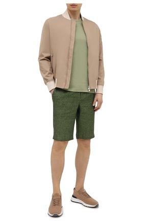 Мужская хлопковая футболка CAPOBIANCO зеленого цвета, арт. 10M660.PA01. | Фото 2