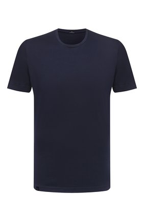 Мужская хлопковая футболка CAPOBIANCO темно-синего цвета, арт. 10M660.PA01. | Фото 1