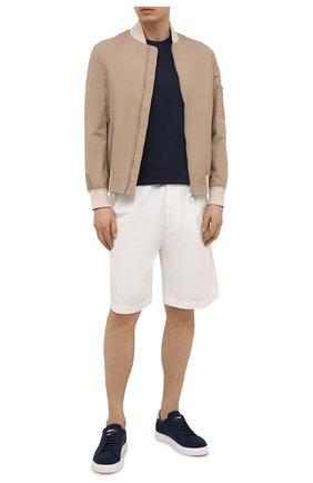 Мужская хлопковая футболка CAPOBIANCO темно-синего цвета, арт. 10M660.PA01. | Фото 2