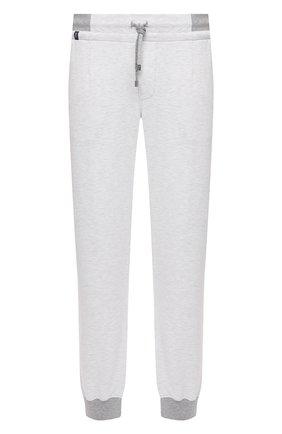 Мужские хлопковые джоггеры CAPOBIANCO белого цвета, арт. 10M741.FE00. | Фото 1 (Материал внешний: Хлопок; Длина (брюки, джинсы): Стандартные; Материал подклада: Хлопок; Силуэт М (брюки): Джоггеры; Кросс-КТ: Спорт; Стили: Спорт-шик)