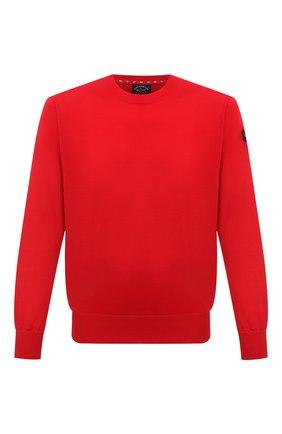 Мужской хлопковый свитшот PAUL&SHARK красного цвета, арт. 21411508/C00 | Фото 1