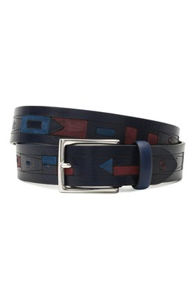 Мужской кожаный ремень PAUL&SHARK темно-синего цвета, арт. 21416009/HM7 | Фото 1